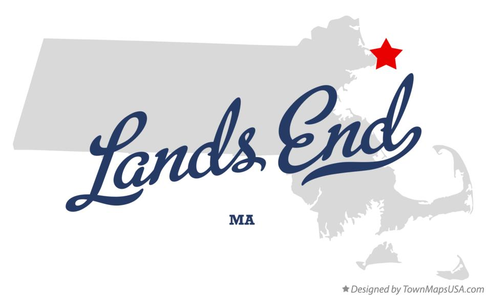 Map of Lands End Massachusetts MA