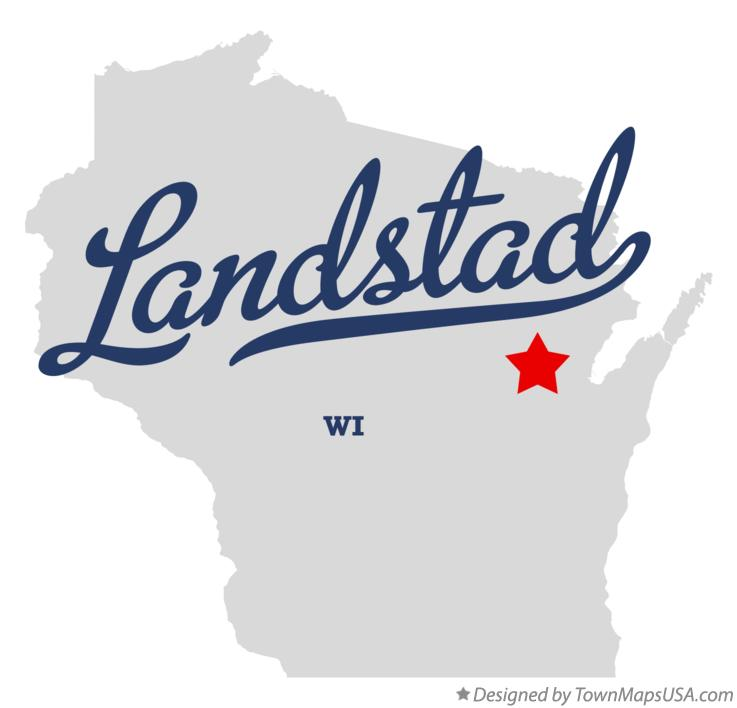 Map of Landstad Wisconsin WI
