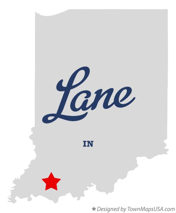 Map of Lane Indiana IN