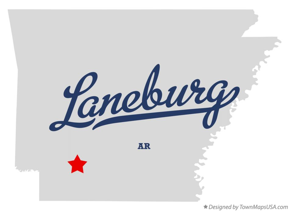 Map of Laneburg Arkansas AR