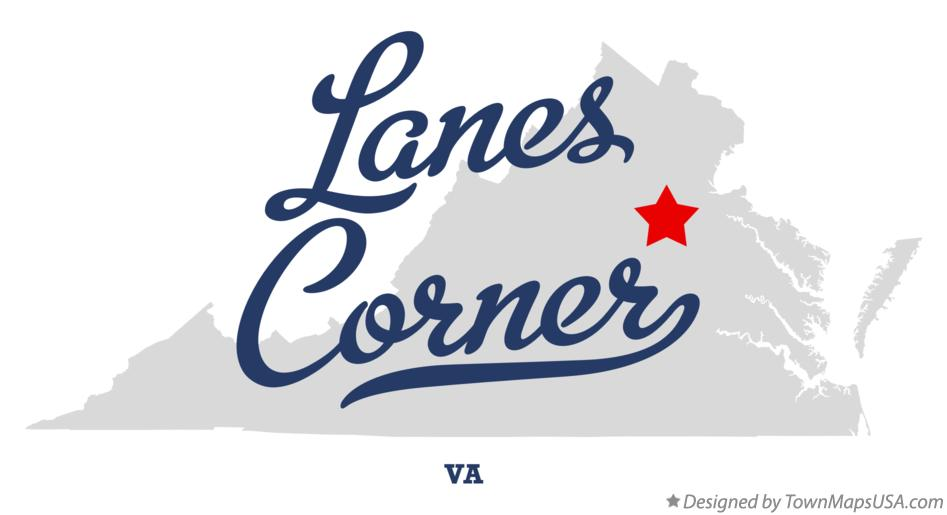 Map of Lanes Corner Virginia VA