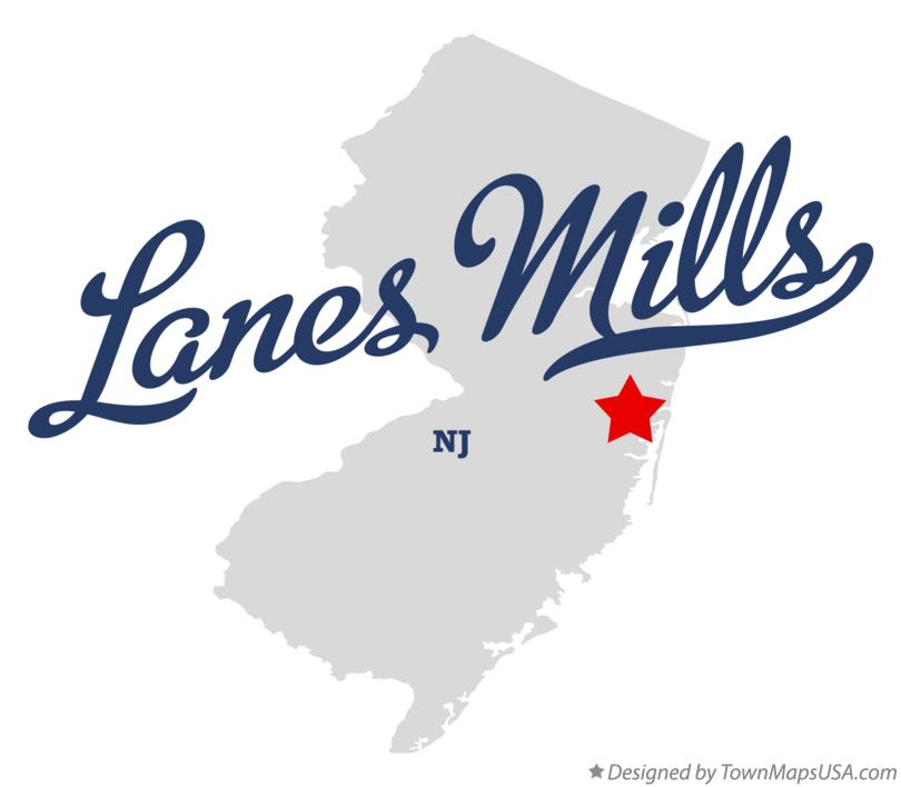 Map of Lanes Mills New Jersey NJ