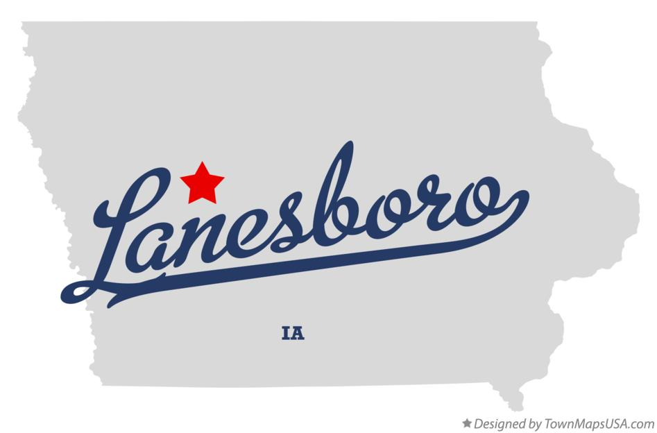 Map of Lanesboro Iowa IA