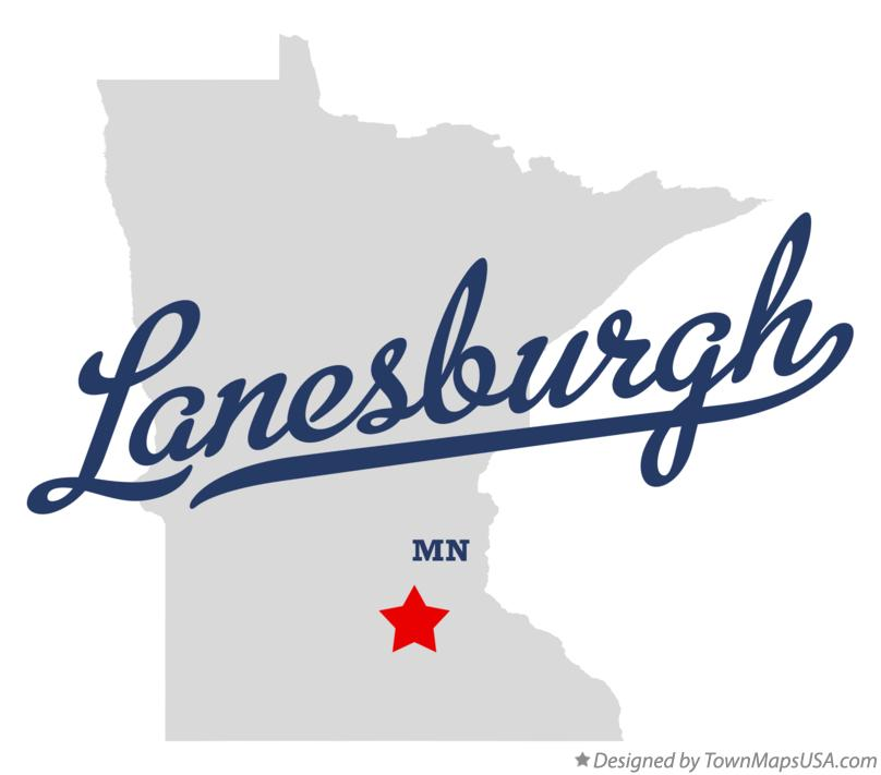 Map of Lanesburgh Minnesota MN
