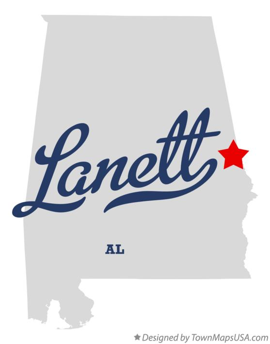 Map of Lanett Alabama AL