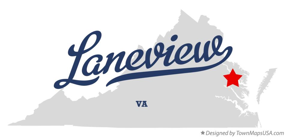 Map of Laneview Virginia VA