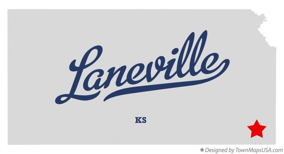 Map of Laneville Kansas KS