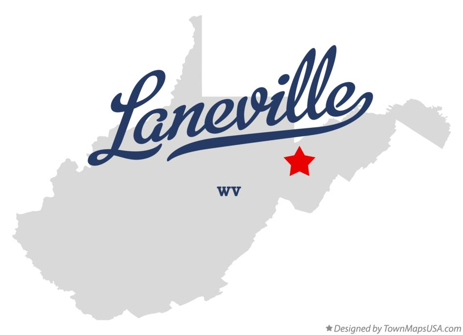 Map of Laneville West Virginia WV