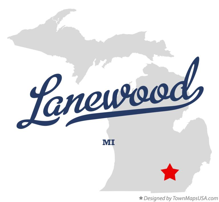 Map of Lanewood Michigan MI