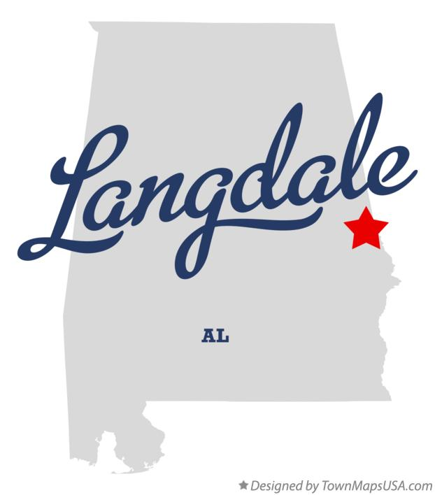 Map of Langdale Alabama AL
