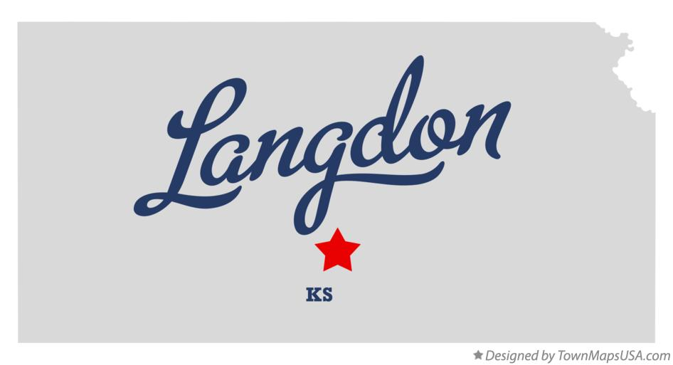 Map of Langdon Kansas KS