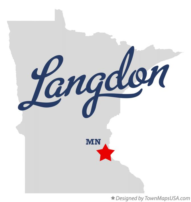 Map of Langdon Minnesota MN