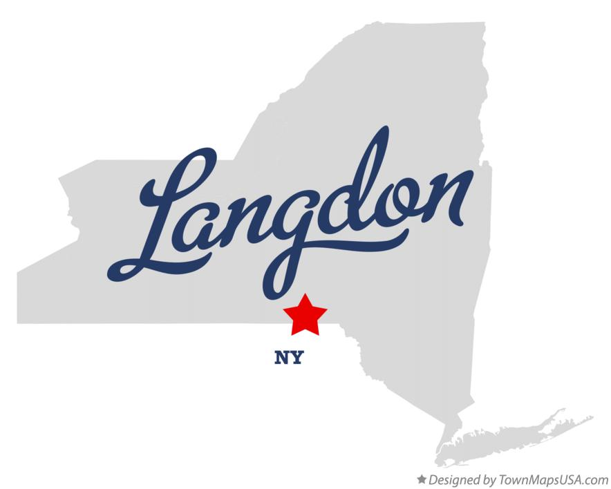 Map of Langdon New York NY