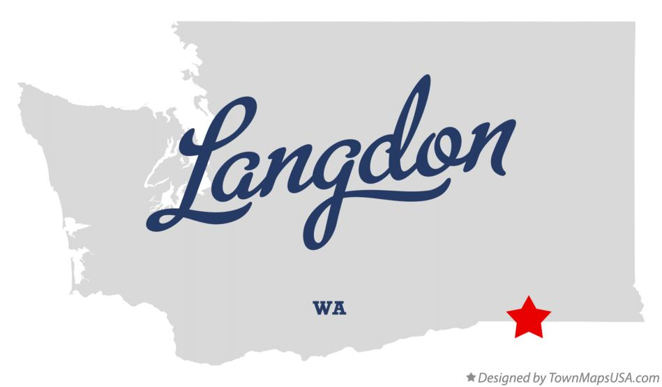 Map of Langdon Washington WA