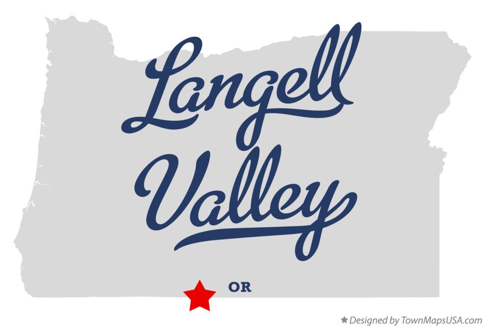 Map of Langell Valley Oregon OR