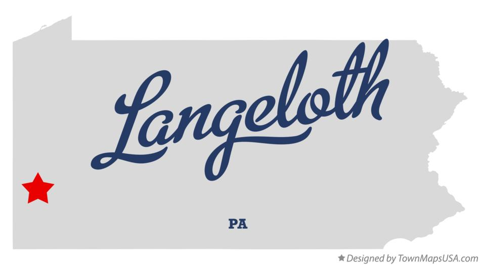 Map of Langeloth Pennsylvania PA