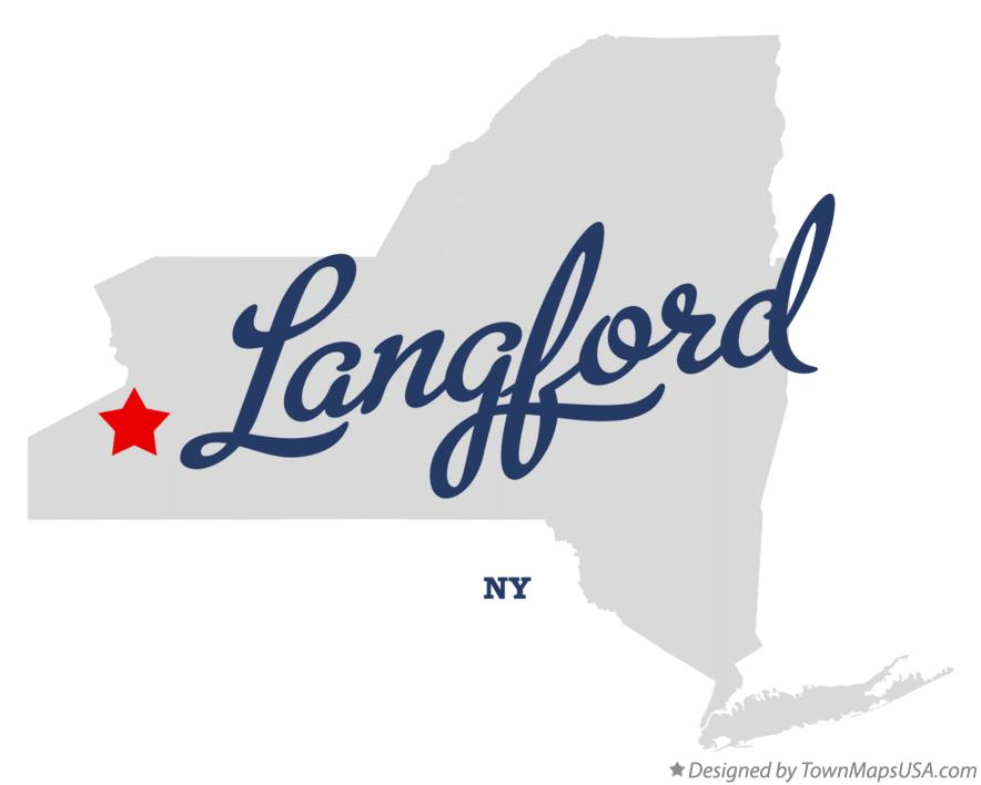 Map of Langford New York NY