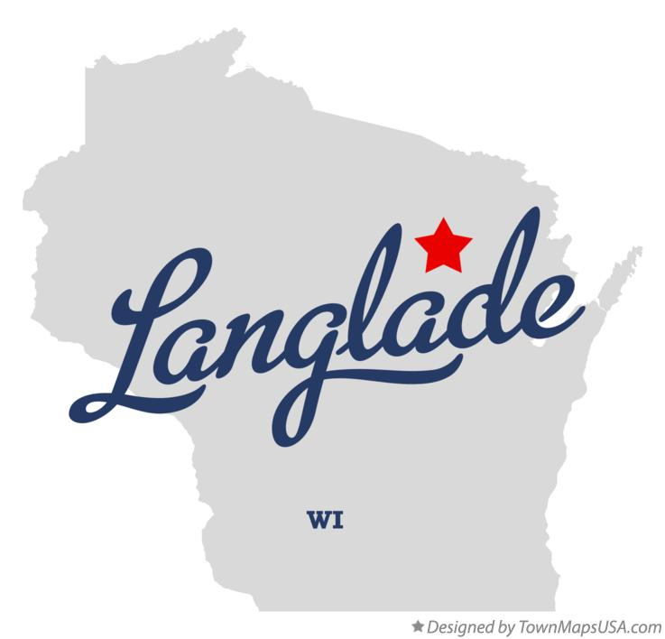 Map of Langlade Wisconsin WI