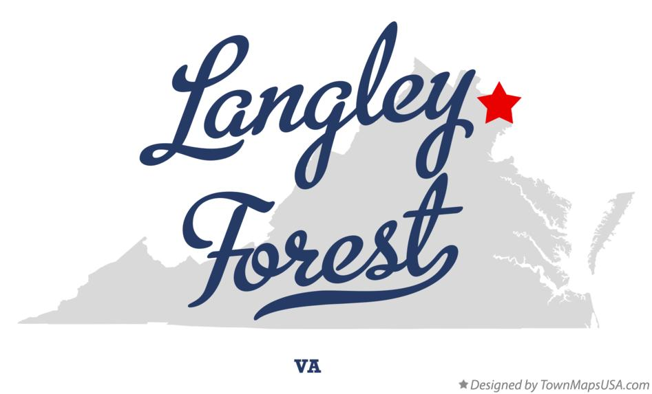 Map of Langley Forest Virginia VA