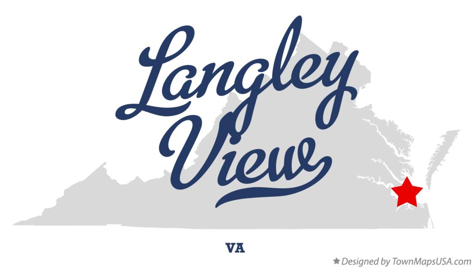 Map of Langley View Virginia VA