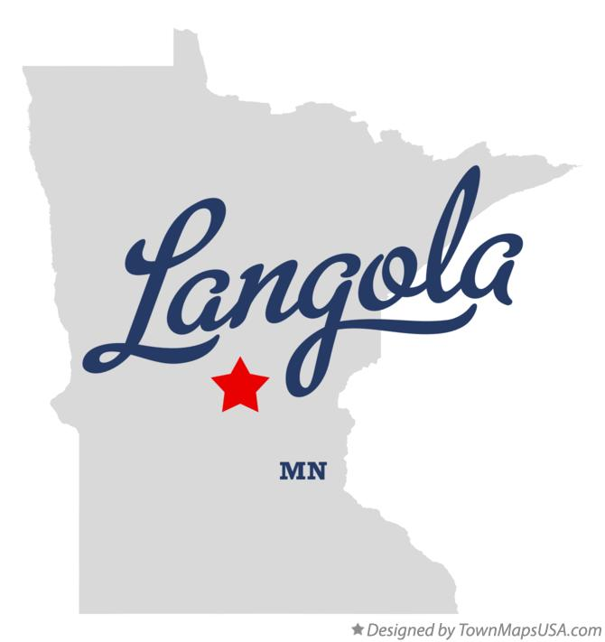 Map of Langola Minnesota MN