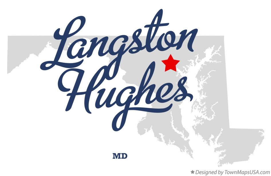 Map of Langston Hughes Maryland MD