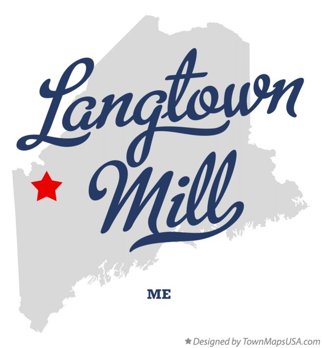 Map of Langtown Mill Maine ME