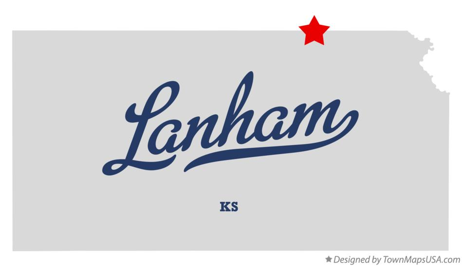 Map of Lanham Kansas KS