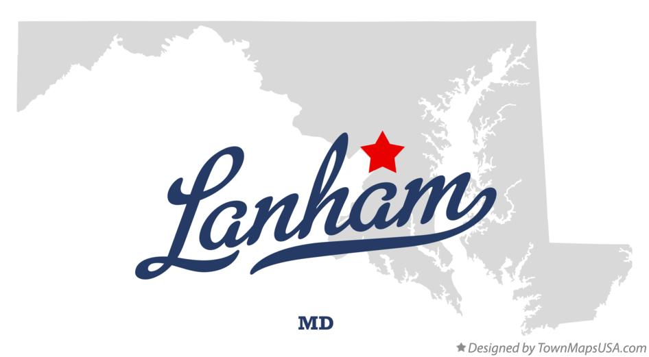 Map of Lanham Maryland MD
