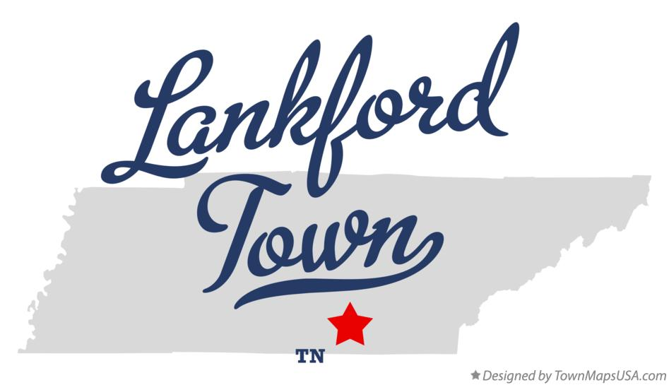 Map of Lankford Town Tennessee TN