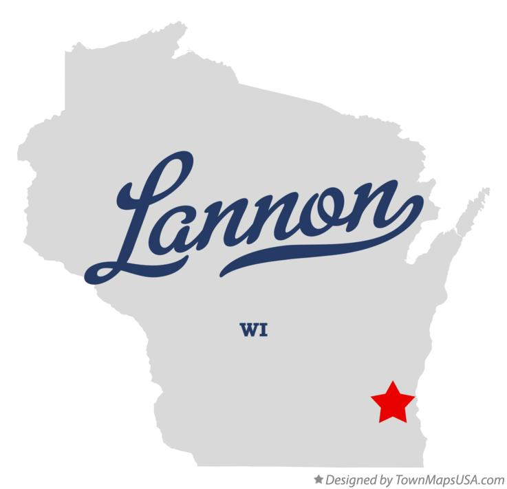 Map of Lannon Wisconsin WI