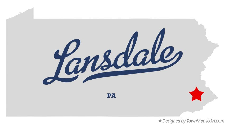 Map of Lansdale Pennsylvania PA