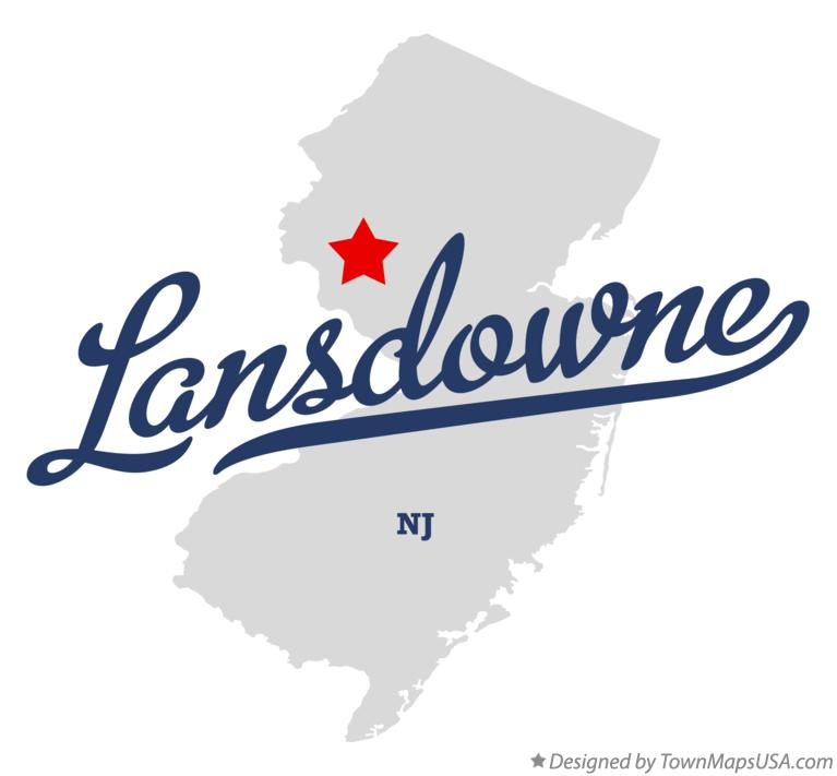 Map of Lansdowne New Jersey NJ