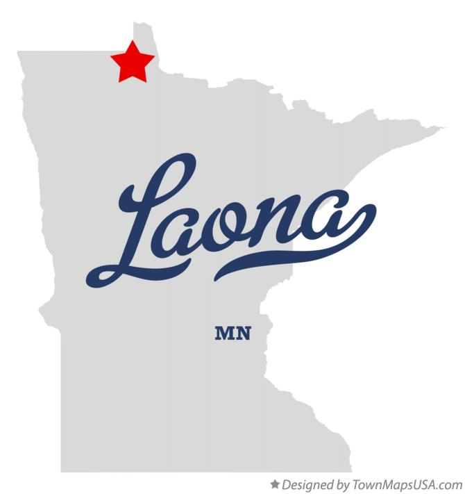 Map of Laona Minnesota MN