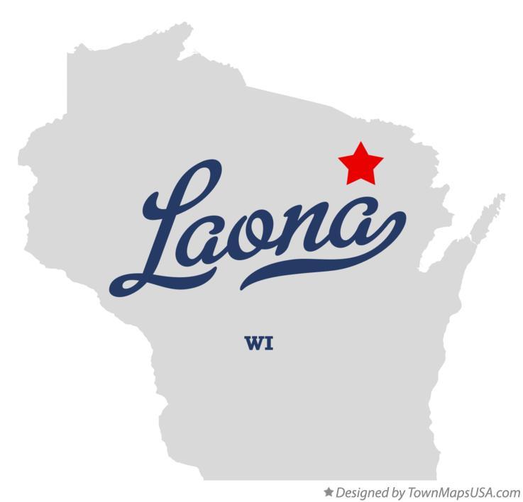 Map of Laona Wisconsin WI
