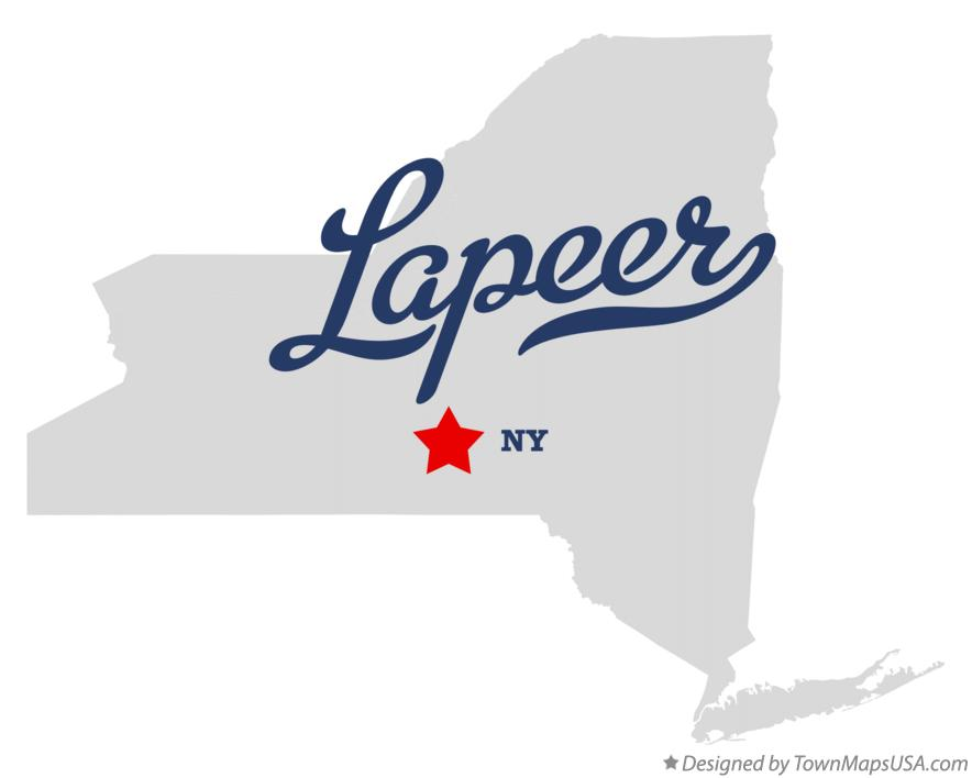 Map of Lapeer New York NY