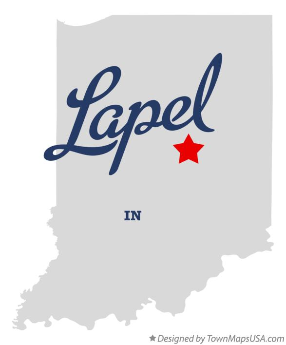 Map of Lapel Indiana IN