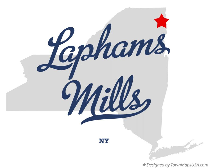 Map of Laphams Mills New York NY