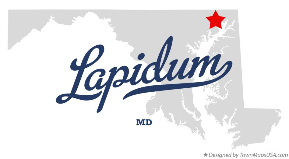 Map of Lapidum Maryland MD