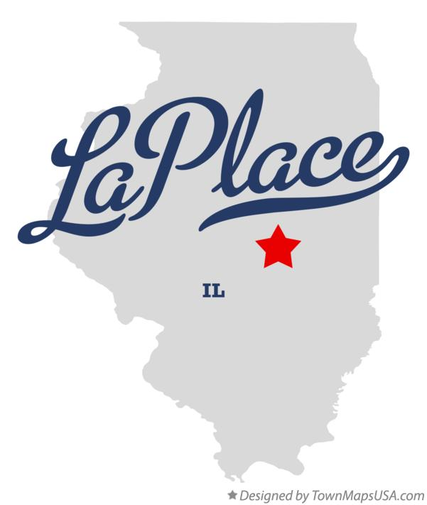 Map of LaPlace IL Illinois