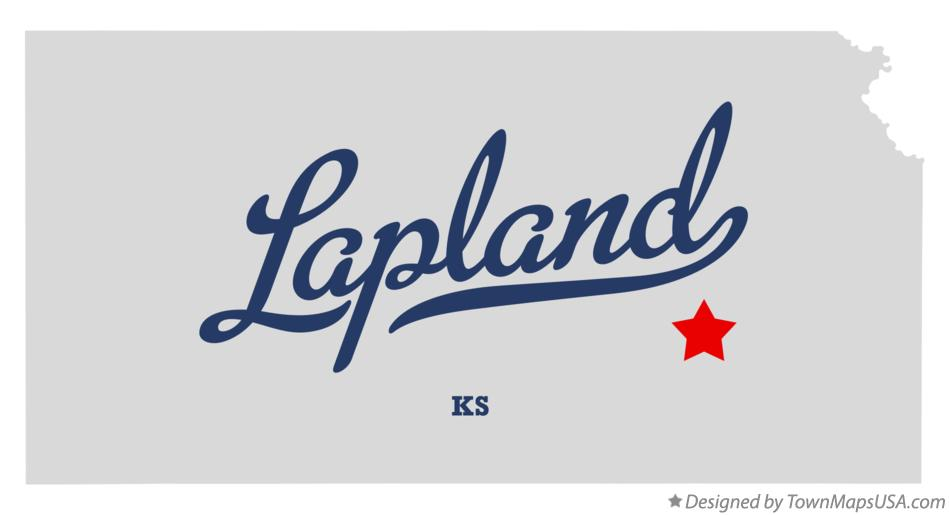 Map of Lapland Kansas KS