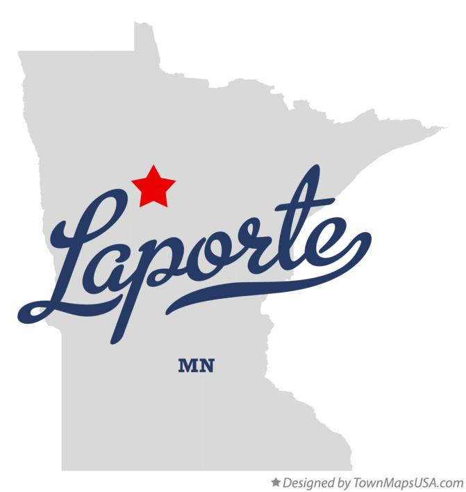 Map of Laporte Minnesota MN