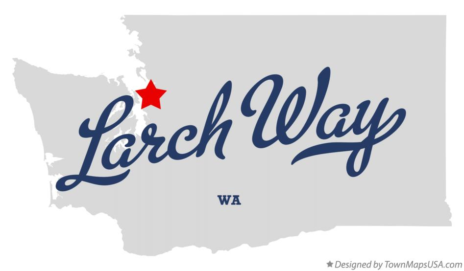 Map of Larch Way Washington WA