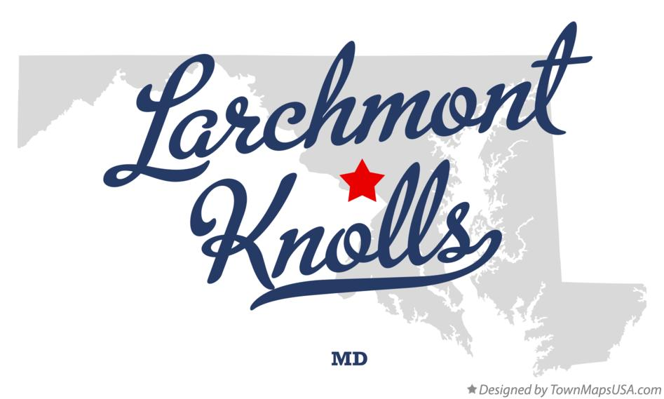 Map of Larchmont Knolls Maryland MD