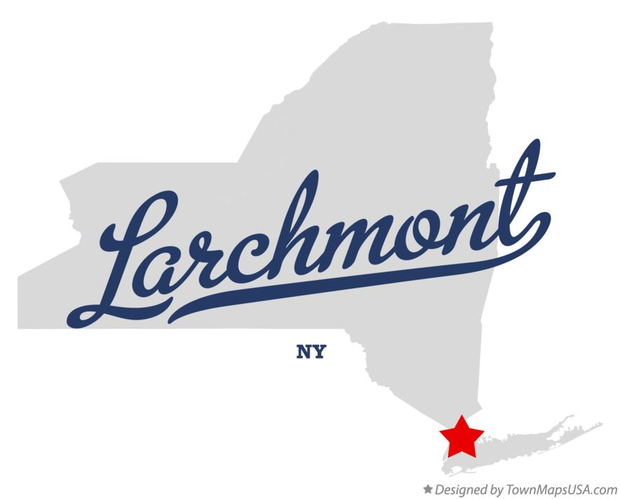 Map of Larchmont New York NY