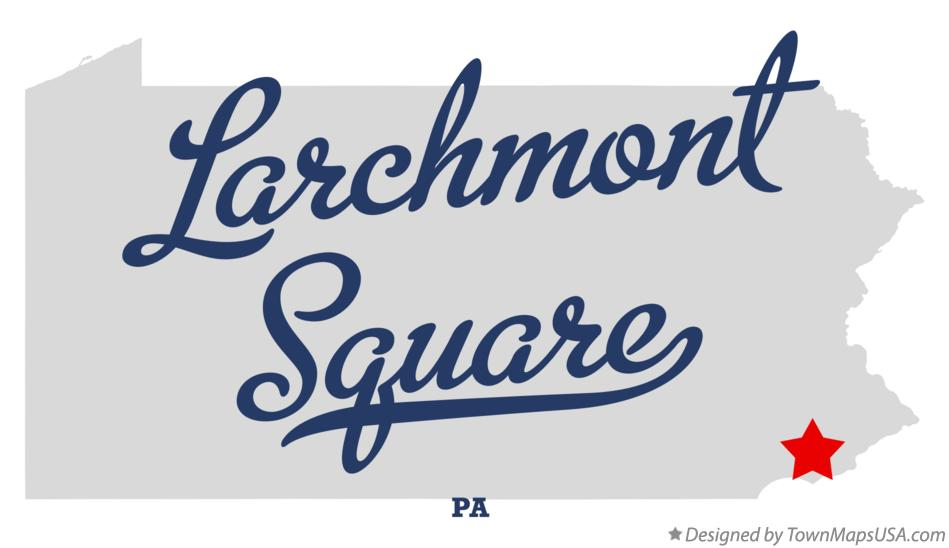 Map of Larchmont Square Pennsylvania PA