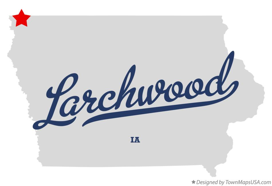 Map of Larchwood Iowa IA