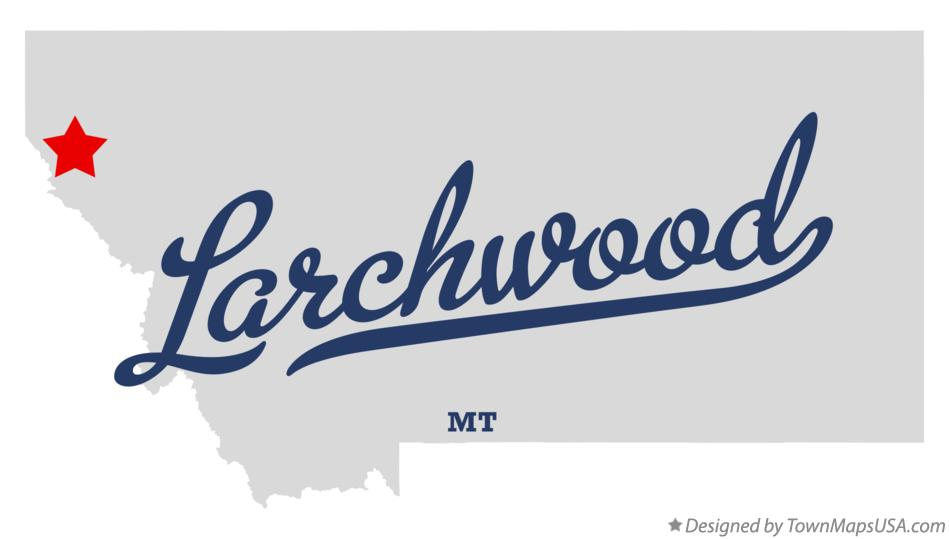 Map of Larchwood Montana MT