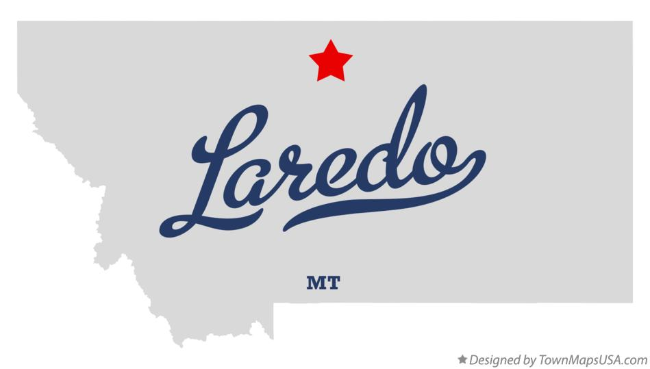 Map of Laredo Montana MT
