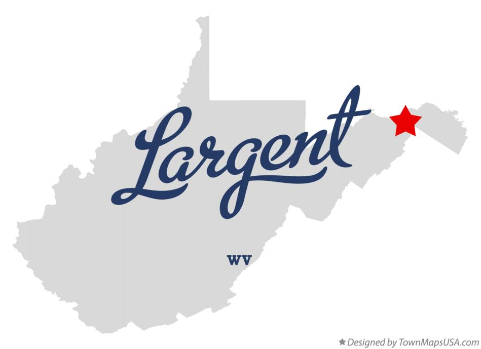 Map of Largent West Virginia WV